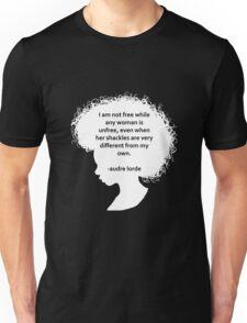 Audre Lorde Silhouette (white) Unisex T-Shirt
