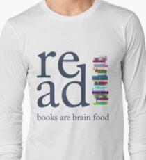 Read Because Books are Brain Food Reading Rocks Literary Tee T-Shirt
