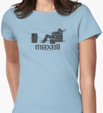 Maxell (black) Womens Fitted T-Shirt