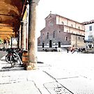 Bicycles on the arcade by Giuseppe Cocco
