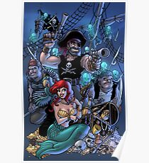 Trader Jack and Mermaid Molly Poster