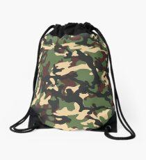 Camo pattern Drawstring Bag