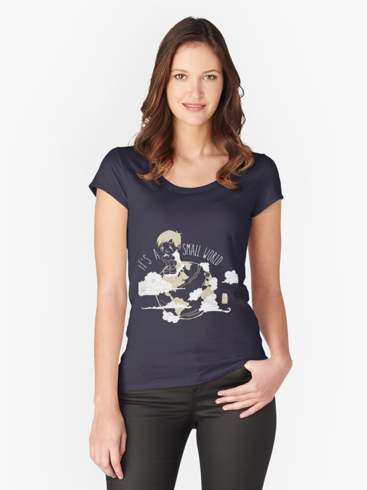 Small World Women's Fitted Scoop T-Shirt Front
