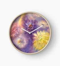 Colorful asters Clock