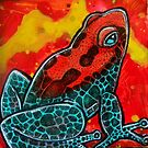 Strawberry Poison Frog by Lynnette Shelley
