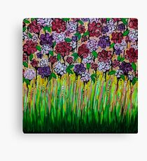 Dripping Flowers Canvas Print