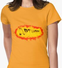 Artwork with brush paint Womens Fitted T-Shirt