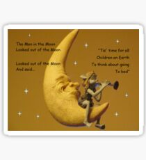 Mother Goose Rhyme from the moon Sticker