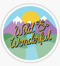 Wild and Wonderful West Virginia Sticker