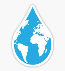 Project Water for Life Raindrop Sticker