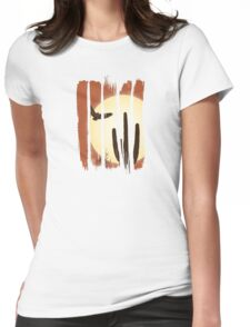 Beautiful Landscape Scene Illustration Brushstroke I Womens Fitted T-Shirt