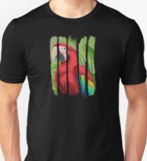 Beautiful Red Macaw Illustration Brushstroke I Unisex T-Shirt