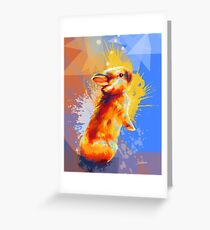 Colors of Fluff - Bunny portrait Greeting Card