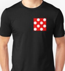 White on Red Polka Dots Unisex T-Shirt
