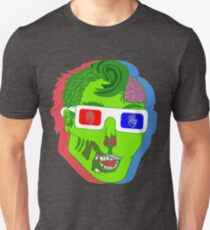 Hipster Zombie Now in 3D  T-Shirt