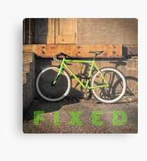 Green Fixie Metal Print