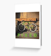 Green Fixie Greeting Card