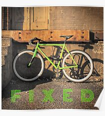 Green Fixie Poster