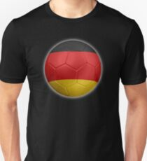 Germany - German Flag - Football or Soccer 2 Unisex T-Shirt