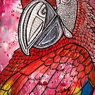 Scarlet Macaw by Lynnette Shelley