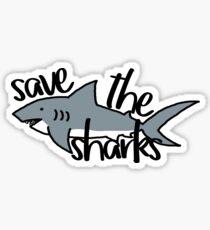 Save the Sharks Sticker