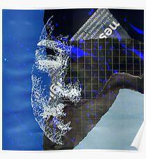 Distortion 2 Collage - Black Poster
