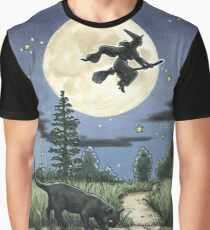 Everyday Witch Tarot - The Moon Graphic T-Shirt