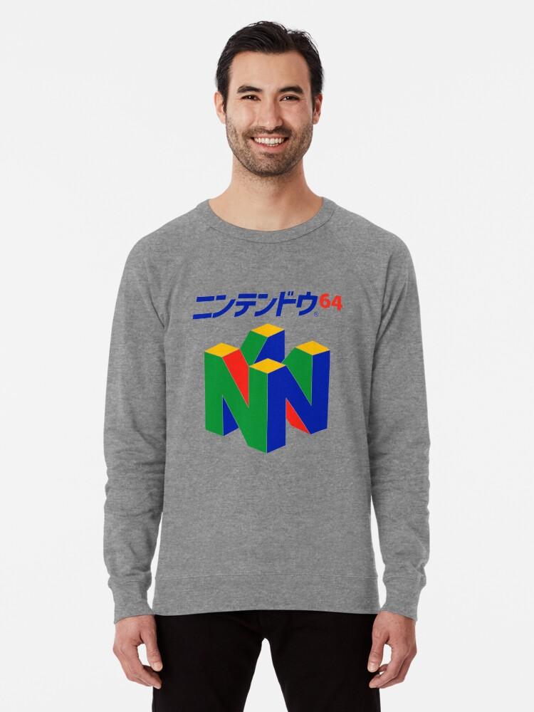 Alternate view of Japanese Nintendo 64 Lightweight Sweatshirt