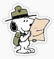 Snoopy Scout Sticker