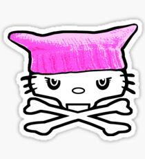 Muschi Hut Katze Schädel Sticker