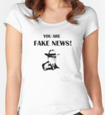 You are fake news!! Women's Fitted Scoop T-Shirt