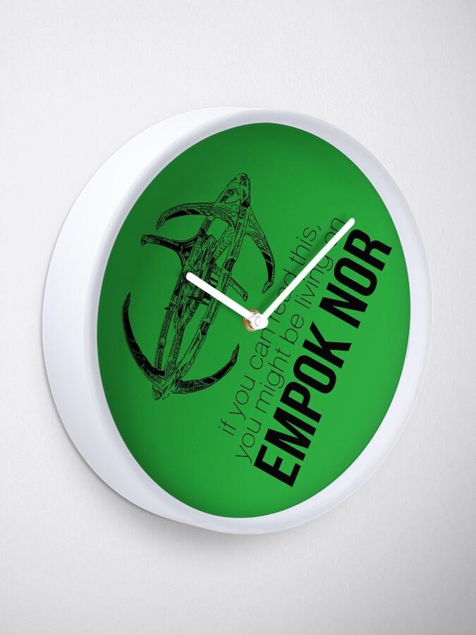 Vista alternativa de Reloj Podrías estar en Empok Nor - DS9 Tee