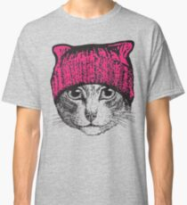 Pussyhat Protest Shirt - Women's March Pussycat Pink Hat Shirt Classic T-Shirt