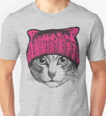 Pussyhat Protest Shirt - Women's March Pussycat Pink Hat Shirt Unisex T-Shirt