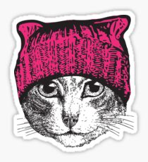 Pussyhat Protest Shirt - Women's March Pussycat Pink Hat Shirt Sticker