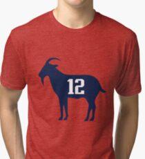 Goat tb12 Tom Brady Exclusive T-shirt Tri-blend T-Shirt