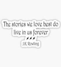 JK Rowling Quote Sticker