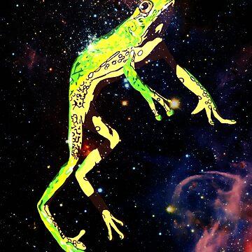 Space Frog (Shirt, Pillow, Sticker) by LittlePsycho