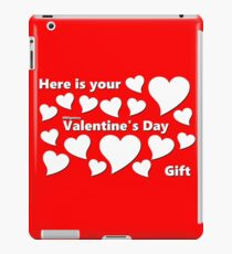 Obligatory Valentine's Day Card / Gift White & Red iPad Case/Skin