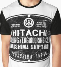 Hitachi Shipbuilding and Engineering Graphic T-Shirt