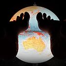 The World at Her Feet Collectors Poster and Postcards by Pasha du Valentine by Pasha du Valentine