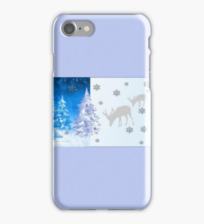 A blue Christmas on all products (5418 Views) iPhone Case/Skin