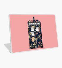 Floral TARDIS Laptop Skin