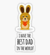 Best Dad In The World Sticker
