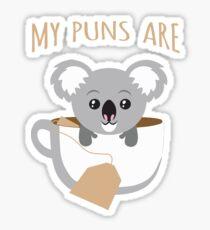 I Love My Koala and They Are Tea Sticker