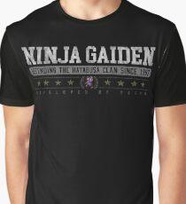 Ninja Gaiden - Vintage - Black Graphic T-Shirt