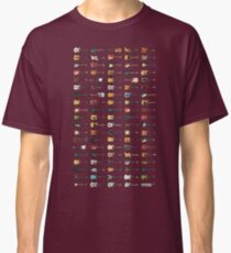 95 Pixel Guitars and Basses and a Keyboard Classic T-Shirt