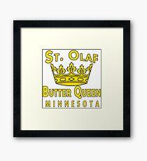 Saint Olaf Butter Queen Minnesota Framed Print