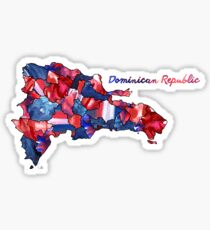 Water Color Countries - Dominican Republic Sticker