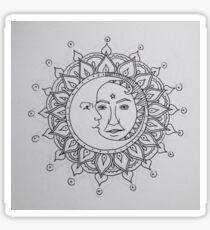 Sun & Moon Collision Sticker
